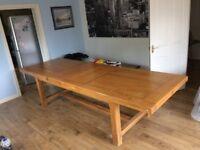 Beautiful French Oak Farmhouse Dining Table - Seats 10+