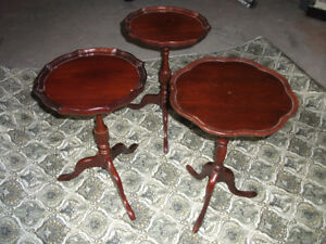 3 Antique side tables