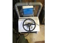 Steering column for boat