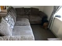 DFS L SHAPE SOFA ,RECLINER CHAIR AND FOOT STOOL