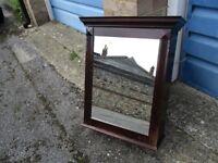Antique Style Mahogany Bathroom Cabinet With Mirror