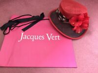 Brand new with tags Jacques Vert formal hat, red/brown