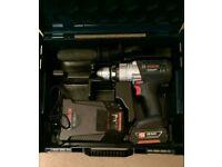 Bosch 18v Gsb 18 VE-2-LI drill 3ah battery l box(13th August) price reduced.