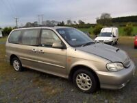 kia sodona parts from 2 2.9 diesel cars gold and red