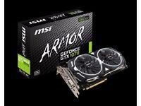 MSI GeForce GTX 1070 ARMOR 8G OC. 1920 Cuda Core PCIE 3.0 8 GB GDDR5 256-Bit Graphics Card