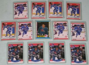 Joe Sakic hockey cards - rookie and 1st year  - 13 cards
