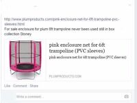 BNIB 6ft plum pink trampoline enclosure net only (NO TRAMPOLINE) collect or deliver Stonehaven