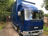 2002 52 Iveco cargo 170e18 6 cylinder 22 ft Removal Body