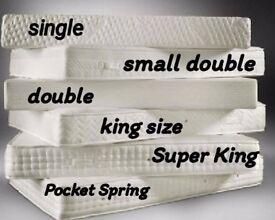 Reversible, Memory foam, Orthopaedic and Pocket sprung mattresses.