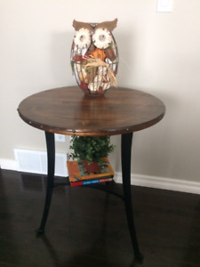 Rustic tall side table