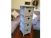 STUNNING GREY WOODEN DRAWER UNIT