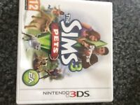 Sims 3 pets 3ds/2ds game