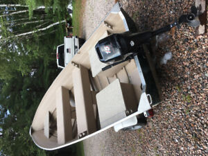 Great Aluminum Boat for sale, motor and trailer combo