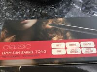 Hair tong and pro ceramic plates never been used