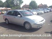 2002 (51 Reg) Ford Focus 1.6 GHIA AUTOMATIC 4DR Saloon SILVER + LOW MILES