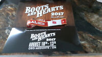 Boots and hearts wristband
