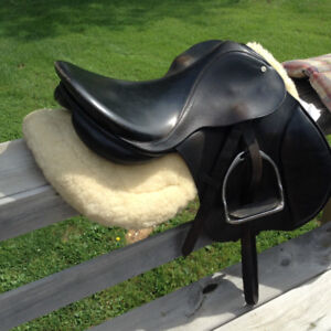 English saddle by Christie and other tack