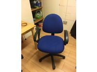Blue Office Chair, Choice of 2 both in good condition, buyer to collect HU7