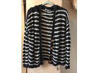 Black/white stripe cardigan