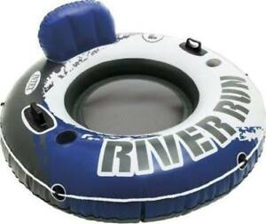 Water Inflatable Pool Float Raft Lake Lounge Floating Cup Holder
