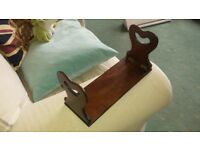 Antique mahogany folding book stand rest rack