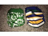 2 glad baby reusable cloth nappies