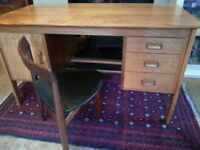 True vintage teak mid century modern desk by Gordon Russell