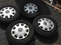 Ford transit 4 wheels and orignal Covers