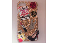 Customised gold crystal glam iPhone 6/6s case