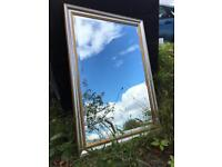 Lovely Gilt & Silver Mirror with bevelled glass