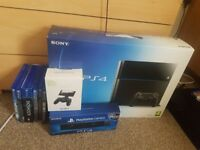 Ps4 with games and camera