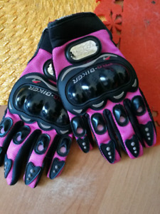 Motorcycle Protective Gloves PINK | WOMEN