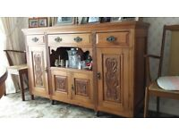 Late Victorian Carved Walnut Sideboard in beautiful condition for collection only