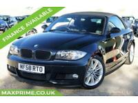 BMW 1 SERIES 2.0 PETROL 118I M SPORT PHANTOM BLACK CONVERTIBLE + FULL HISTORY