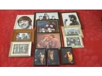 Various framed beatles pictures