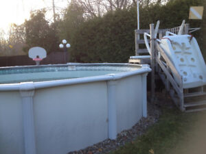 piscine 21' rond complet avec chauffe-eau, swimming pool heater