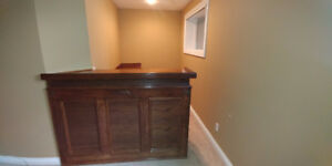 Bar and Cabinets
