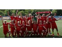Friendly, successful female football (ladies' soccer) team welcomes new players!