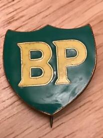 VINTAGE BRITISH PETROLEUM BP ENAMEL BADGE BY FIRMIN