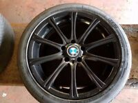 """BMW 18"""" ALLOYS WITH TYRES CAME OFF 5 SERIES MSPORT"""