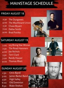 3 day Country Thunder Pass