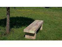 Double sleeper bench railway sleeper seat bench furniture Summer Furniture Set LoughviewJoineryLTD