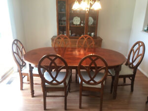 Dining Room Set - Table and Six Chairs - Estate Sale