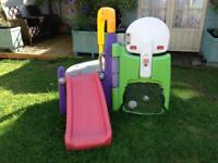 Little tikes small climbing centre with slide and basketball hoop