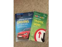 Official DVSA driving guide and traffic signs books