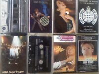 ABBA, ELTON JOHN, JOHN DENVER, ROD STEWART, N GRIFFITH, 90'S ELECTRODANCE PRERECORDED CASSETTE TAPES