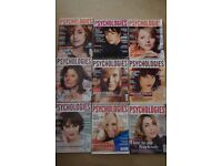 9 PSYCHOLOGIES (UK) MAGAZINES 2006-2011- TONI COLLETTE/SUSAN SARANDON-GOOD USED-COLLECT BENFLEET