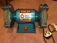 "CLARKE METALWORKER 6"" (150mm) BENCH GRINDER MODEL CBG6RZ"
