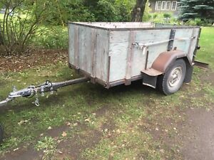 """4 by 8 utility trailer with 30"""" sides"""