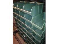 Stackable storage/parts containers boxes